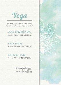 Clases de prueba Yoga Abril